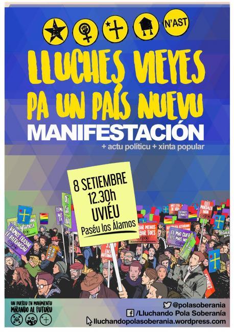 Cartelu manifestación del Día de la Nación Asturiana