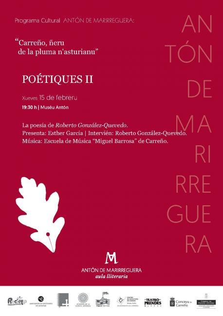 Cartelu 'Poétiques' Roberto González-Quevedo