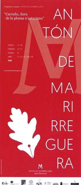 Cartelu Programa Cultural Antón de Marirreguera