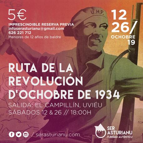 Cartelu ruta Ochobre 34 Ser Asturianu