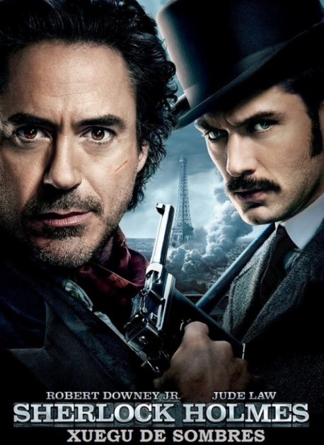 Cartelu 'Sherlock Holmes: Xuegu de solombres'