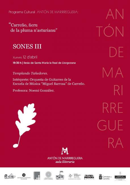 Cartelu 'Sones III' Antón de Marirreguera