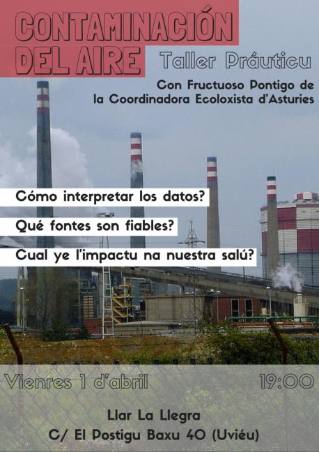 Cartelu taller 'Contaminación del Aire'