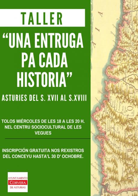 Cartelu taller 'Una entruga pa cada historia' Corvera