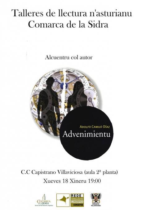 Cartelu talleres de llectura Villaviciosa 'Advenimientu' tres l'anulación