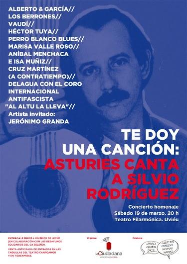 Cartelu 'Te doy una canción: Asturies canta a Silvio Rodríguez'