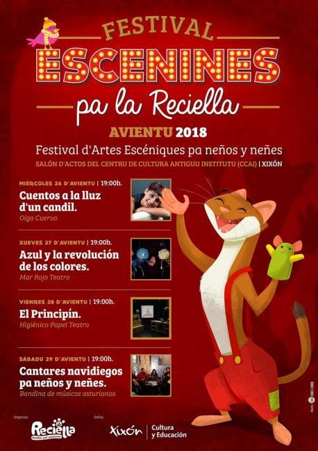 Cartelu VI Festival Escenines pa la Reciella