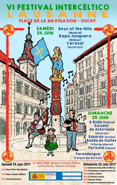 Cartelu VI Festival Intercéltico de Lausanne