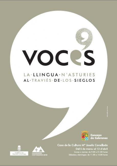 Cartelu 'Voces' en Cabranes
