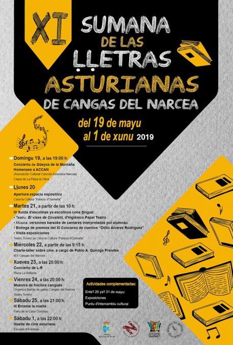 Cartelu XI Sumana de las Ḷḷetras Asturianas de Cangas del Narcea