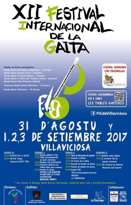 El XII Festival Internacional de la Gaita enllena d'actividaes Villaviciosa
