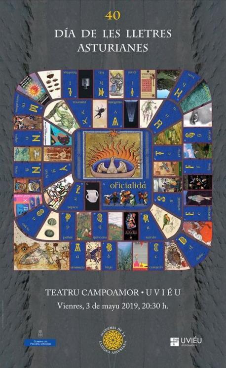 Cartelu XL Día de les Lletres Asturianes