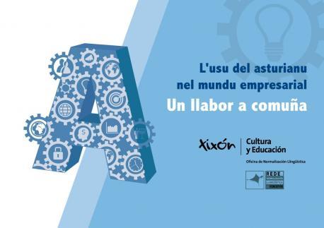 Cartelu xornada 'L'asturianu nel mundu empresarial. Un llabor en comuña'