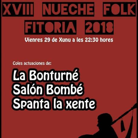 Cartelu XVIII Nueche Folk de Fitoria