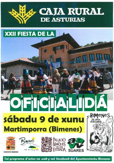 Cartelu XXII Fiesta de la Oficialidá