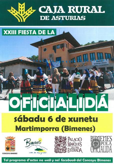 Cartelu XXIII Fiesta de la Oficialidá de la Llingua Asturiana