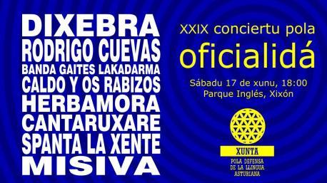 Cartelu XXIX Conciertu pola Oficialidá
