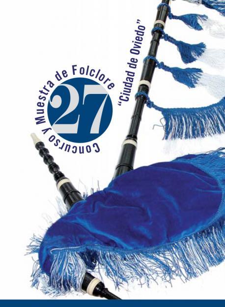 Cartelu XXVII Concurso y Muestra de Folclore Ciudad de Oviedo