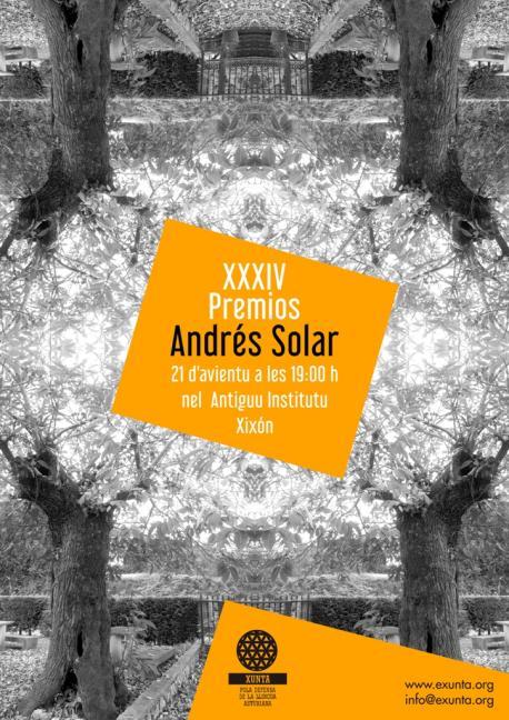 Cartelu XXXIV Premios Andrés Solar