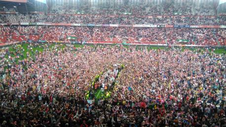 Celebración permanencia en Primera Sporting 2015-2016