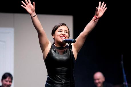 Celia Corrales ganadora III 'Sácame pola pinta' como Luz Casal