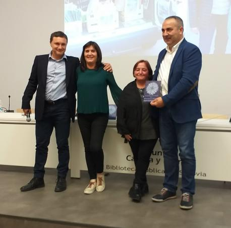 Clemente Martínez, Ángeles Molejón, Trinidad Suárez Rico y César Villabrille VII Premiu ACLEBIM