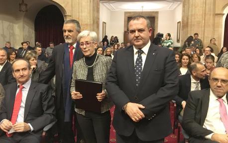 Constantino Martínez, Isaac Pola y Teresa Vigón.