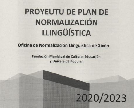 Cubierta Plan de Normalización Llingüística de Xixón 2020-2023