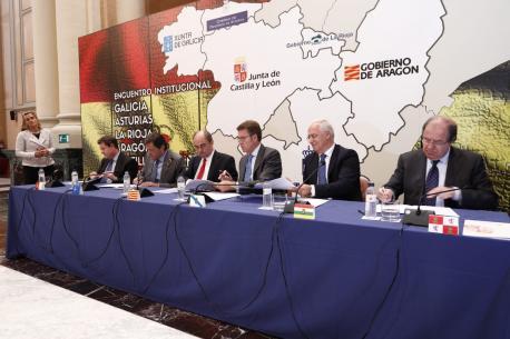 Emiliano García-Page, Javier Fernández, Javier Lambán, Alberto Núñez Feijóo, José Ignacio Ceniceros y Juan Vicente Herrera, declaración institucional Zaragoza