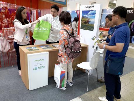 Espaciu d'Asturies na XXXIV Korea Word Travel Fair de Seúl