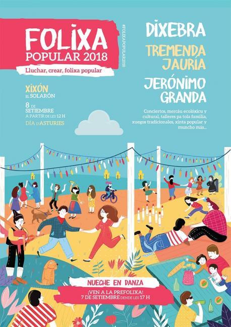 Podemos Asturies celebra'l Día d'Asturies cola so Folixa Popular