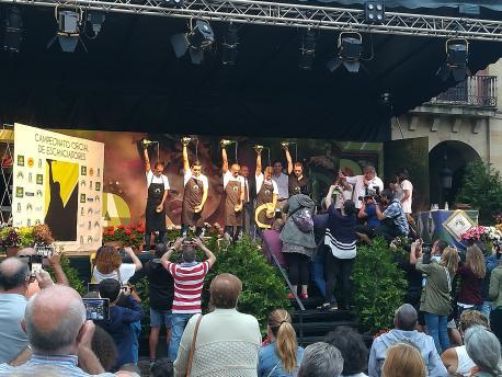 Ganadores prueba d'escanciáu de Xixón