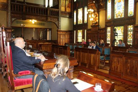 Guillermo Martínez Suárez intervién na diputación permanente de la Xunta Xeneral