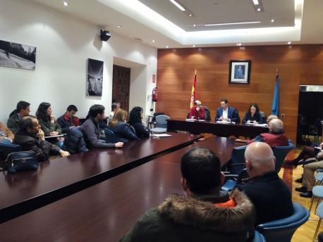 Guillermo Martínez Suárez reunión Cangas Llei de Participación Ciudadana