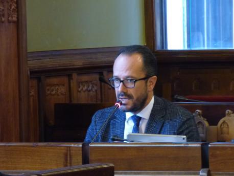 Ignacio Blanco na Comisión de Cultura, Política Llingüística y Turismu