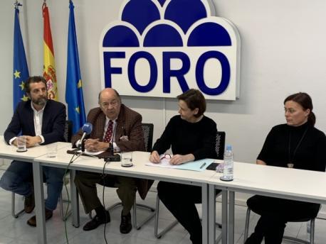 Inaciu Iglesias, Enrique Álvarez Sostres, Carmen Moriyón y María Jesús Alonso