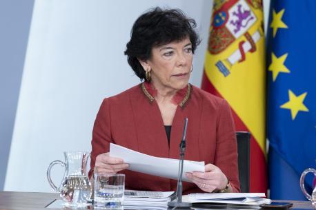 Isabel Celaá tres el Conseyu de Ministros