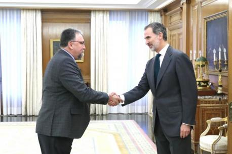 Isidro Martínez Oblanca y Felipe VI