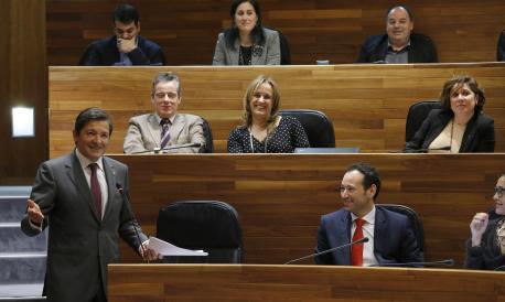Javier Fernández y el so gobiernu