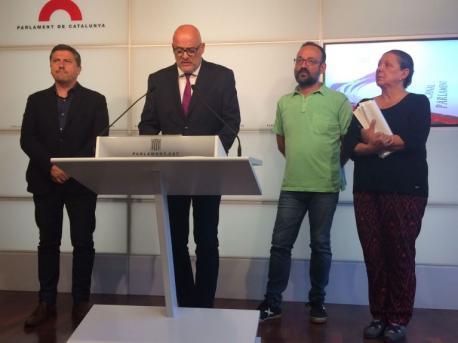 Jordi Orobitg, Lluís Corominas, Benet Salellas y Gabriela Serras