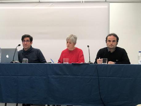 Juan Tizón, Melania Fraga y Pablo A. Quiroga xunta direutiva Academia del Cine Asturiano