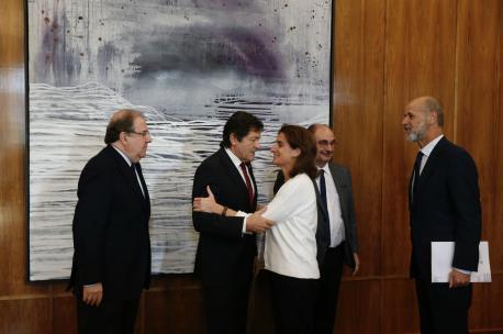 Juan Vicente Herrera, Javier Fernández, Teresa Ribera y Javier Lambán