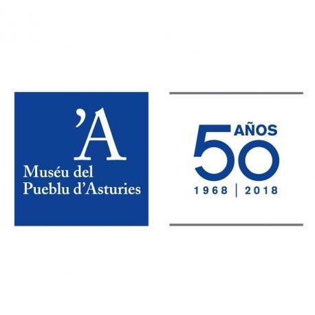 Logu 50 aniversariu Muséu del Pueblu d'Asturies