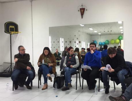 Luis García Calvo, María José Miranda, Antón Martínez Fernández y Javier Piquero charra plumeru de La Pampa