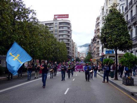 Manifestación Día de les Lletres Asturianes 2017
