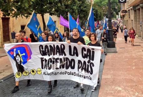 Manifestación Día de la Nación Asturiana 2016
