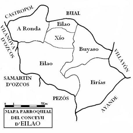 Mapa parroquial d'Eilao