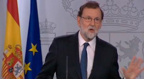 Mariano Rajoy anuncia 155