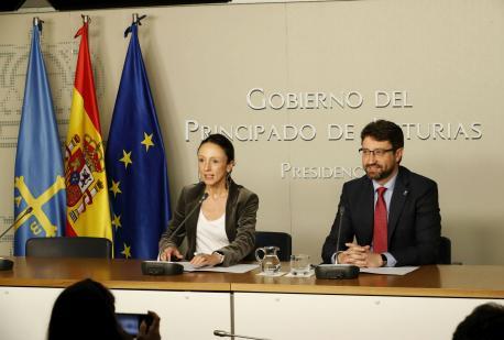 Melania Álvarez y Enrique Fernández Conseyu de Gobiernu especialidá