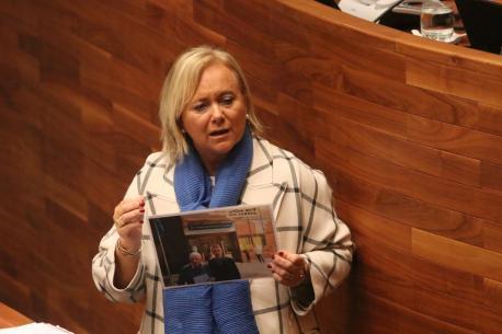 Mercedes Fernández nel Alderique d'Orientación Política Xeneral